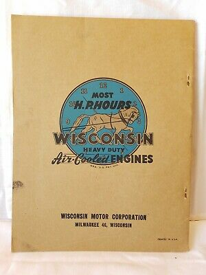 Wisconsin Air Cooled Heavy Duty Engines Instruction Parts List Models Ve4 Vf4