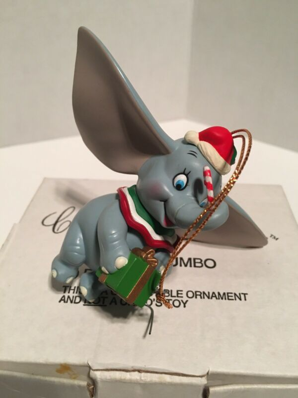 DISNEY CHRISTMAS MAGIC GROLIER DUMBO ORNAMENTS W/BOX