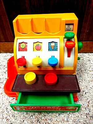 Vintage 1974 FISHER PRICE Cash Register #926 with 2 coins