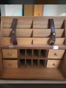 Desk organizer made of hardwood selling it for $20