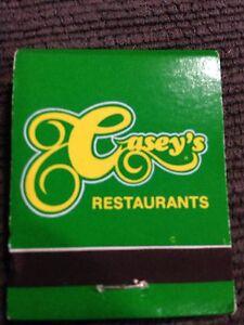 Casey's Restaurants Matchbook Windsor Region Ontario image 2