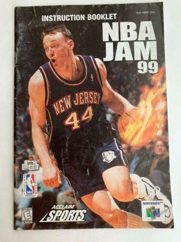 NBA JAM 99 Instruction Booklet Manual for Nintendo 64 N64