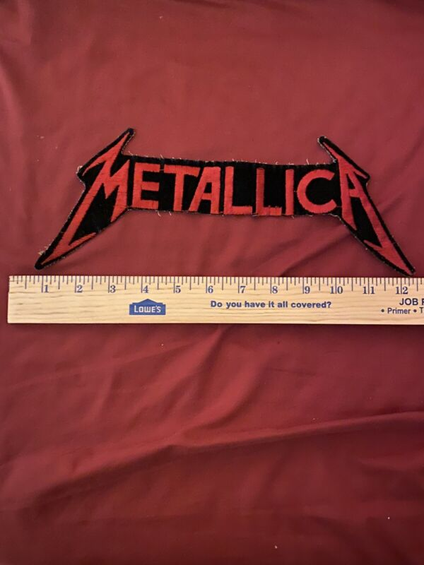 VINTAGE METALLICA HEAVY METAL ROCK BAND PATCH LOGO