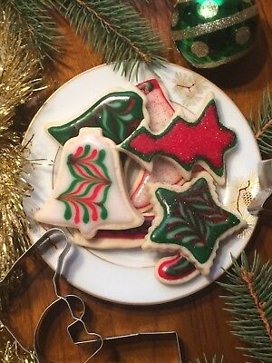3 -6  Dz Homemade Christmas Sugar Cookies-Trees, Boots, Stars, Bells, Candy Cane