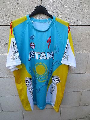 Maillot cycliste ASTANA MOA dédicacé signé TOUR de FRANCE 2010 shirt trikot rare image