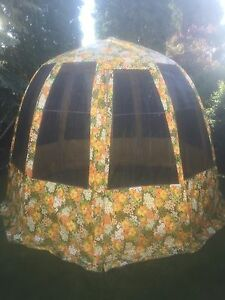 Portable gazebo for bug free relaxing in yard or camp ground!