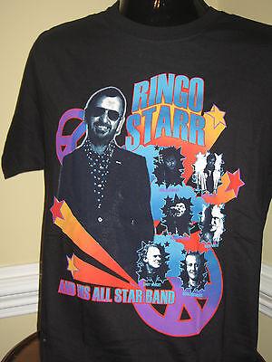 RINGO STARR Official 2010 Tour T-Shirt MEDIUM - NEW - FREE SHIPPING, FREE FOTO