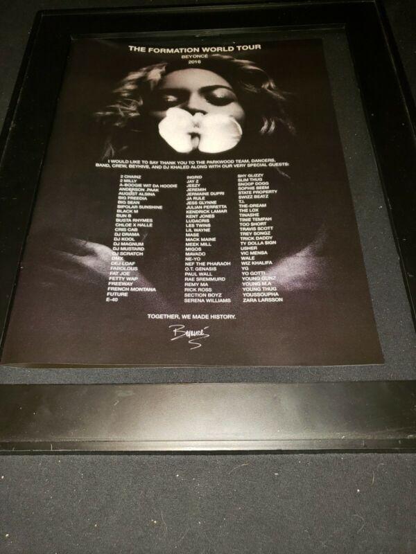 Beyonce Formation World Tour Rare Original Promo Poster Ad Framed!