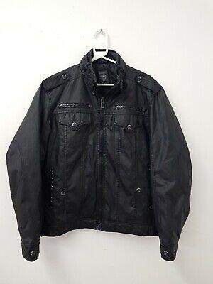 Men's Dissident Black Faux Leather jacket Size L (Large)