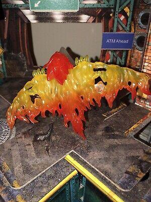 Marvel Legends Demogoblin Flame Glider & Stand BAF piece from White Rabbit NEW!