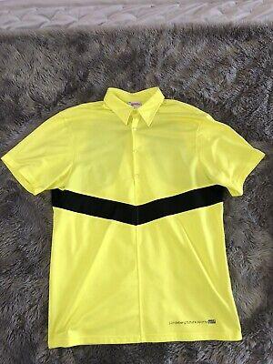 J Lindeberg Golf Shirt; Yellow / Black / Size Large; VGC