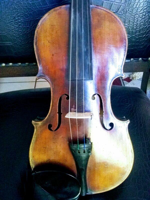 Fine Old German Stradivarius Master Violin circa 1880 4/4 watch video!