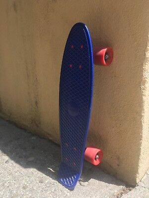 "Penny Skateboard 22"" Original Blue Board and Red Wheels with white Trucks, used for sale  Los Angeles"