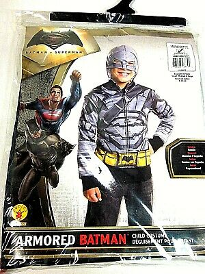 RUBIES COSTUME BATMAN VS SUPERMAN ARMORED BATMAN CHILD HOODIE LARGE NEW