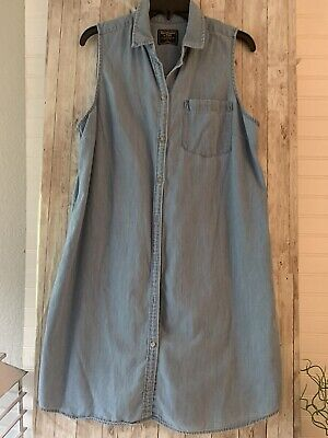 Abercrombie & Fitch Chambray Button Down Dress Size Large