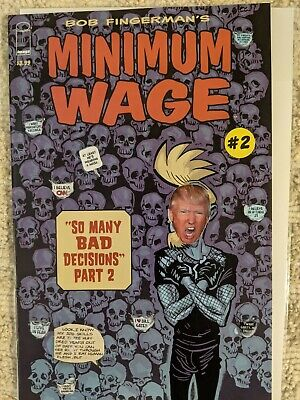 Minimum Wage #2, mixed media, original art, FREE SHIPPING 👌