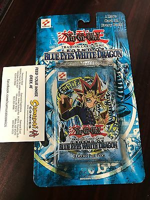Legend of Blue Eyes White Dragon Unlimited Booster Pack Yugioh Blister Card LOB
