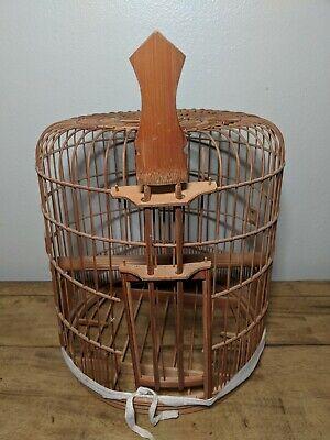 Vintage Wooden Bird Cage Shabby Primitive Farmhouse Style 14x13