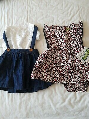 Next and Kapital K Toddler Girls Dress/Skirt Outfits Size 6/9 months