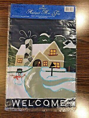 Christmas Flag Seasonal Decorative 11x15 Double Sided Warm Winter Welcome - NEW