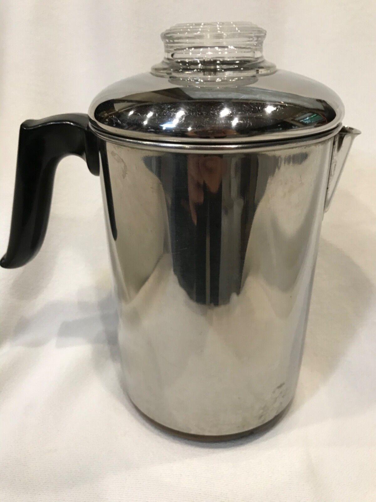 vintage 60s coffee pot percolator copper clad