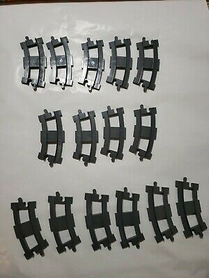 Lego DUPLO Train Track Rail Road 15 pc Curved Lot Grey Extension Set Pieces