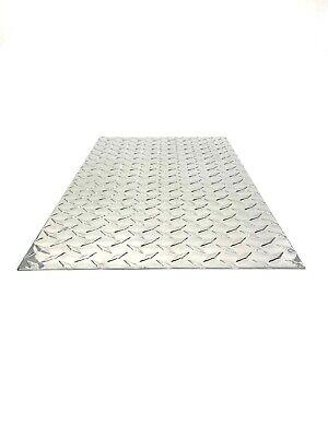 Diamond Tread Plate Aluminum .045 24 X 48 3003 .18 Gauge Chrome Polish - New