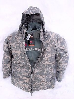 US Army GEN 2 EWCWS Goretex Cold Weather Waterproof Acu Parka or Fleece Jacket Acu Gore Tex Jacket