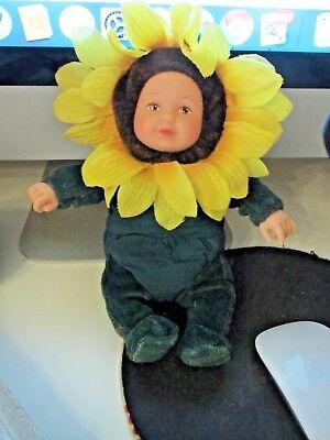 BAMBOLA doll  ANNE GEDDES GIRASOLE flower -
