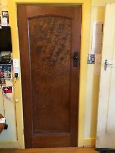 Hardwood 1920s internal door original grain. Brighton East Bayside Area Preview