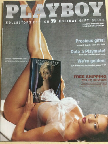 Playboy Catalog Holiday Preview 2003 Candice Michelle cover + order form intact