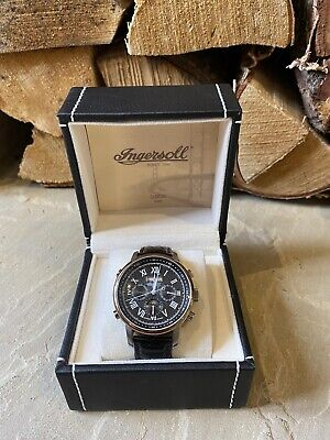 Ingersoll Calibre 545 Watch in Box - Black Leather Strap