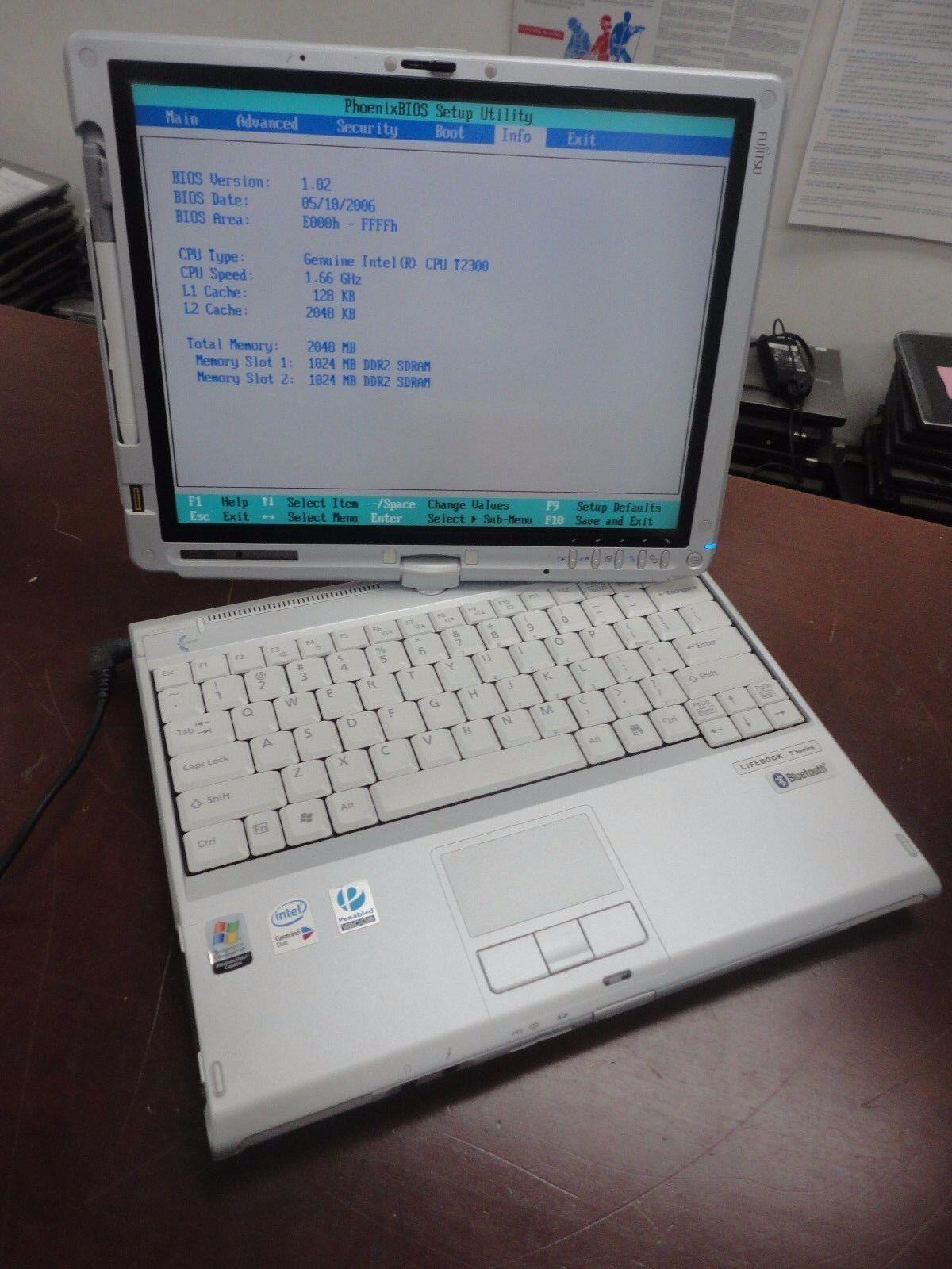 """FUJITSU LIFEBOOK T4210 12.1"""" DUAL CORE 1.66GHZ  2GB 120GB Wi-Fi DVD-RW LAPTOP"""