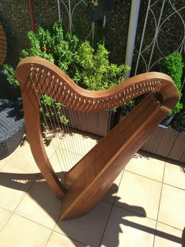 34 string Welsh  harp home made needs re stringing good for house hotel  feature