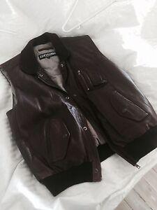 Chevignon leather vest Cronulla Sutherland Area Preview