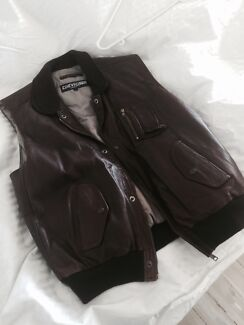 Chevignon leather vest