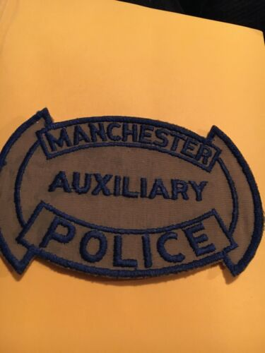 Manchester New Hampshire Vintage Auxiliary Police Patch TWILL