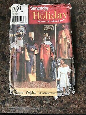 MEN JOSEPH WISEMEN SHEPHERD NATIVITY COSTUME SEWING PATTERN L-XL Simplicity 7031](Joseph Costume Nativity)
