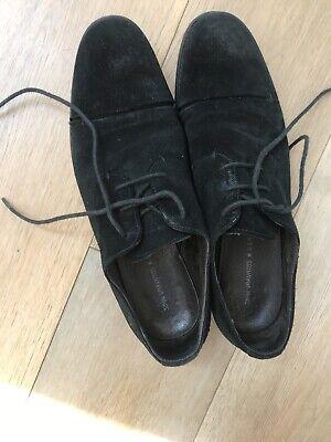 Black Suede John Varvatos Mens Shoes Size 10