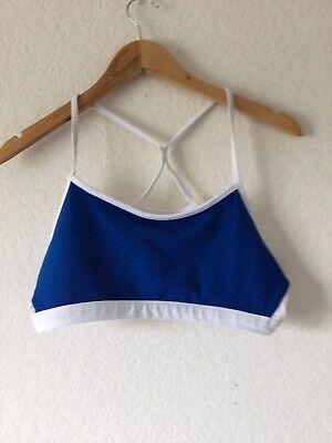 Fabletics Women's Blue/White Sports BRA Size Large