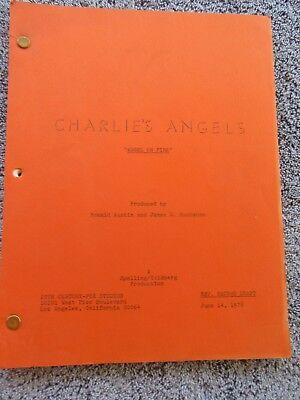 CHARLIES ANGELS SCRIPT - FARRAH FAWCETT 1978 TV SHOW SCRIPT - Vintage Original
