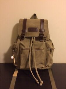NEW World Famous Waxed Cotton Canvas Rucksack