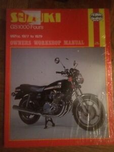 NEW 1977-1979  Suzuki GS1000 Manual