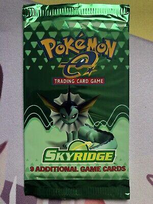 Vaporeon Art Skyridge Sealed Booster Pack Mint Pokemon