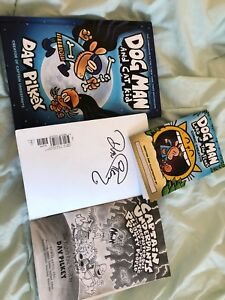 Dog man and signed captain underpants