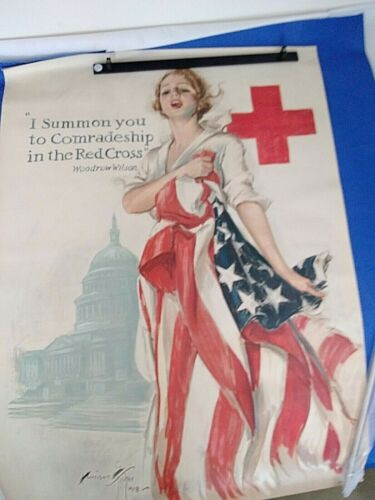 WW1 Original WW1 Poster  I Summon You To Comradeship In The Red Cross 1918 30x40