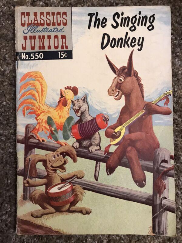 The Singing Donkey No.550 Classics Illustrated Junior 1968