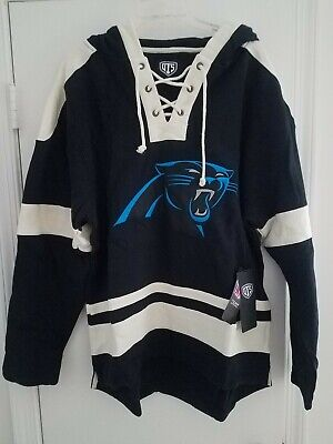 NWT Carolina Panthers Men's OTS Grant NFL Lace Up Pullover Hoodie Size Large Carolina Panthers Hoodie