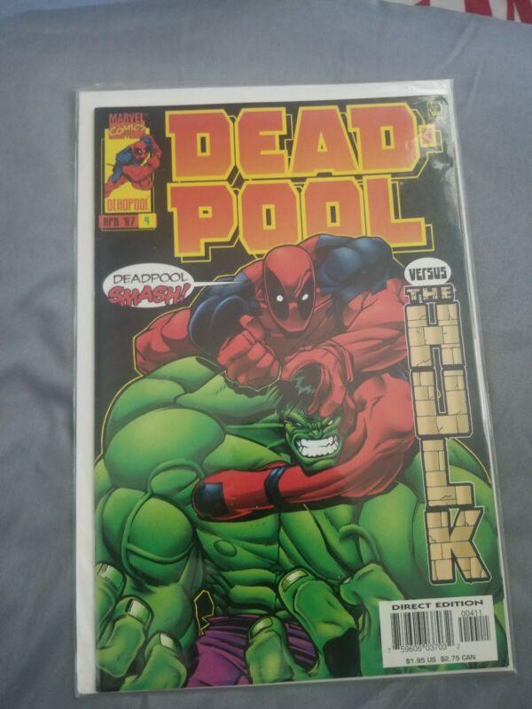 Deadpool #4 (Marvel 1997) Vs The Incredible Hulk VF