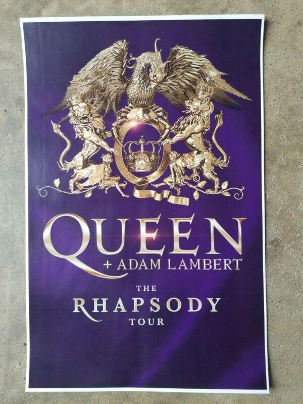Queen 11x17 2019 Rhapsody promo tour concert poster lp shirt